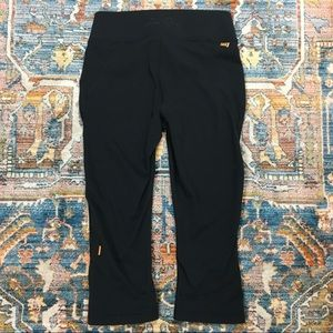 Lucy Bonded Waistband Capri Leggings Black XS
